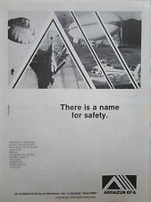 6/1982 PUB AERAZUR EFA SAFETY EQUIPMENT ARRESTING BARRIER SUITS PARACHUTE AD