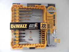DEWALT DWA20IRTIN IMPACT READY 20 PCS TITANIUM DRILL BIT SET NEW