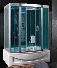 Cabina Idromassaggio150x90 per Box doccia Vasca Sauna e Bagno Turco cromoterapia