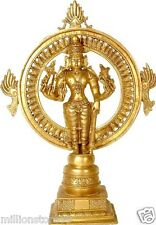 "RARE Lord Sudarshana Avatar GOD Vishnu Statue 17"" Brass Hindu Art Figure 5.2 KG"