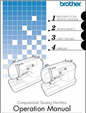 Brother CS6000i Sewing Machine Instruction Manual Users Guide PDF on CD