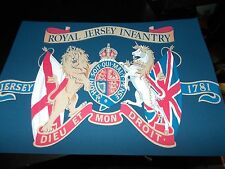 ROYAL JERSEY INFANTRY A4 CANVAS TYPE CARD PRINT