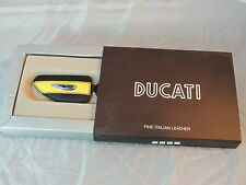 DUCATI KEY HOLDER,FINE ITALIAN LEATHER,57% OFF RETAIL PRICE.