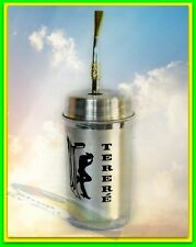 TT1 Tereré CUP ALUMINUM & BOMBILLA SET TO DRINK ICE TEA YERBA MATE BRAZIL