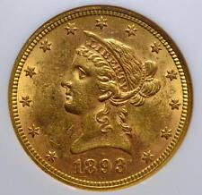 1893 $10.00 Liberty Gold Eagle Graded as mint state 61 by Ngc