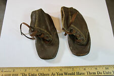 Pair of Vintage Leather Baby Shoes 1901 + look! Leather Still Soft !!  JSH