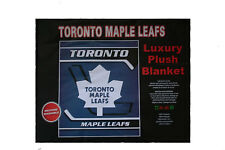 "TORONTO MAPLE LEAFS NHL HOCKEY LOGO LUXURY PLUSH BLANKET BEDSPREAD 79"" X 94"" IN."