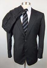 New BRIONI Palatino Dark Charcoal Stripe Wool 2Btn Suit 54 44 44R NWT $5895!