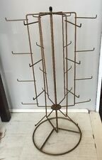 Authentic Vintage Country Store Spinning Display Rack 24 Hook, 6 Arm.