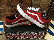 VANS OLD SKOOL PRO SUEDE POTTING SOIL JESTER RED MENS SIZE 9 UK 8.5 EUR 42 NEW