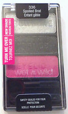 Wet n Wild Eye Shadow Palette Trio # 336 Spoiled Brat Pink Black Silver !HOT!