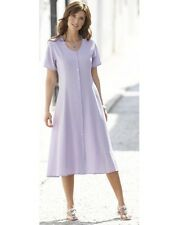 LADIES LILAC FIT AND FLARE CRINKLE EFFECT DRESS SIZE 28 NEW (ref 364) SALE