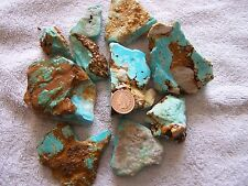 1# pound NATURAL Pilot Mountain Turquoise Rough Nuggets American Blue Green