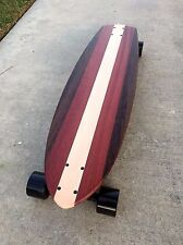 "Longboard from Solid Wood - ""Paloma"" - 34x10"