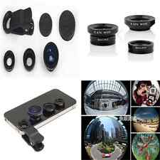 Useful 3in1 Fish Eye + Wide Angle Micro Len Camera Kit For iPhone Samsung HTC