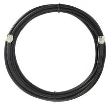 25' LMR-240/RG8X SUPER LOW LOSS COAX HAM-CB-2WAY 2 PL-259 FREE SHIP 3 YR WARR