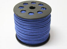 wholesale 10yd 3mm sapphire Suede Leather String Jewelry Making Thread Cords