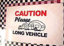 Clásico Caravan largo el vehículo advertencia pegatina