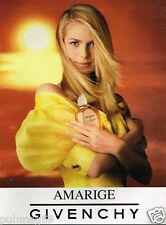 Publicité advertising 1996  Parfum Amarige de Givenchy