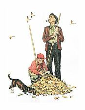 """Norman Rockwell Collection """"THE FOUR SEASONS"""" four prints young boy Grandfather"""