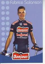 CYCLISME carte cycliste FABRICE SALANSON équipe  BONJOUR.fr 2002