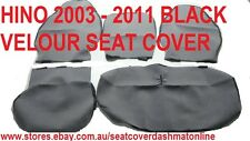 PLAIN BLACK VELOUR SEAT COVER,CUSTOM MADE SEAT COVER  HINO 300 SERIES 2003- 2011