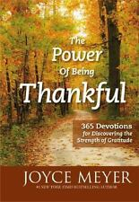 The Power of Being Thankful by Joyce Meyer Hardcover Devotional Book (English)