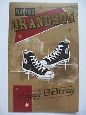 LOVELY WORDS FANTASTIC ALL STAR TRAINERS FOR YOU GRANDSON BIRTHDAY GREETING CARD