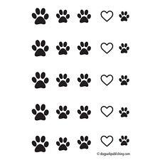 Paw Print Love Nail Art - Black - (DPNA003)- Free Shipping