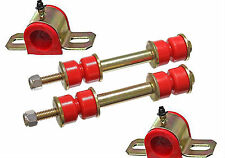 "70-81 Trans Am Polyurethane Front Sway Bar Bushing / End Link Kit 1 1/4"" RED"