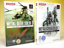 Used PS2 METAL GEAR SOLID 2(English voice Ver.) & 3(Limited) set Japan KONAMI