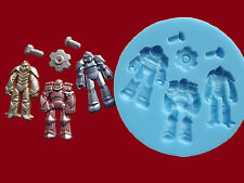 Robot Transformers Nuts Bolts Silicone Mould Set Cake Decorating Cupcake Food G