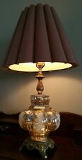 Beautiful Vintage  Carnival Glass Table Lamp
