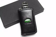 1Pcs Black Leather Car Remote Key Bag Case Holder Cover For Land Rover LR2 LR4
