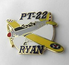 RYAN PT-22 RECRUIT ARMY AIR FORCE TRAINING AIRCRAFT LAPEL PIN BADGE 1.5 INCHES