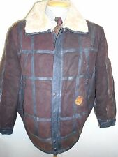 "Vintage B3 Style Real leather Bomber Aviator Leather Jacket M 38-40"" Euro 48-50"