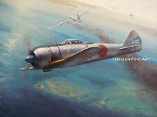 Nakajima Ki-44 Shoki Limited Edition Aviation Painting Art Print Darryl Legg