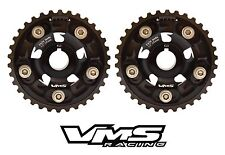 VMS HONDA ACURA B SERIES ENGINES ADJUSTABLE BILLET CAM GEARS PAIR QTY 2 BLACK