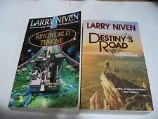 2 PB NEW Larry Niven Ringworld Throne and Destiny's Road Science Fiction Fast sh