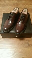 Deadstock Florsheim Imperial Shell Cordovan Plain Toe Blucher Oxford Size 9 USA