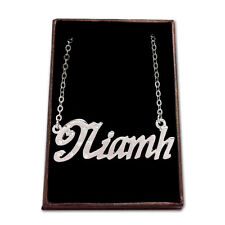 White Gold Plated Name Necklace - NIAMH - Gift Idea For Her - Engagment Pendant