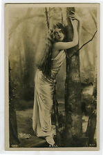 c 1905 Long Haired Beauty FOREST NYMPH BEAUTY Doll Beauty photo postcard
