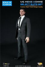 1/6 Action Figure Mens Homme Select Suits Set in Grey by Toys City 62015A