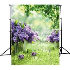 Purple Flower Spring Scene Photography Background Backdrop For Studio Prop 3x5FT