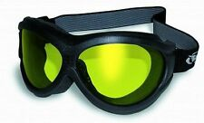 Flexible Anti-Fog Motorcycle Goggles-Fit Over RX Prescription Glasses-Yellow