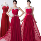 Satin Long Bridesmaid Prom Evening Party Cocktail Dresses Size 6/8/10/12/14/16+