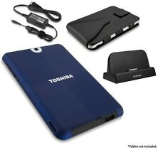 Toshiba Thrive Bundle w/Dock,AC Adapter,Carrying Case Blue cover & Screen