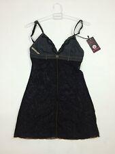 RPP 52£ Diesel Women's Lingerie Nightwear UFPT-Dial Petticoat Dress Size M Black