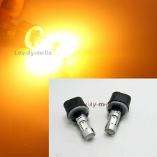 2PCS Amber-Yellow 880 899 COB LED Projector Bulbs Car Driving Fog Light Lamp