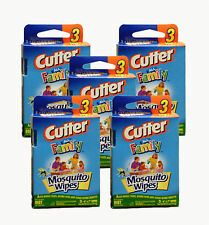 Cutter All Family 7 DEET Mosquito Wipes 5 PACKS - 3 Whipes Each